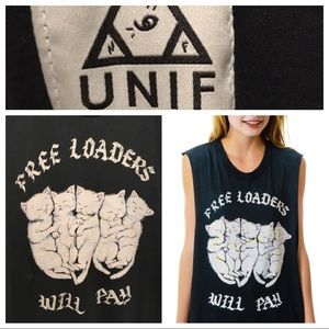 Unif Freeloaders Will Pay Muscle Tee